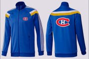 Wholesale NHL Montreal Canadiens Zip Jackets Blue-3