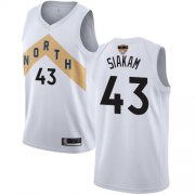 Wholesale Cheap Raptors #43 Pascal Siakam White 2019 Finals Bound Basketball Swingman City Edition 2018-19 Jersey