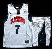 Wholesale Cheap 2012 Olympic USA Team #7 Russell Westbrook White Basketball Jerseys & Shorts Suit