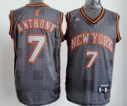 Wholesale Cheap New York Knicks #7 Carmelo Anthony Black Rhythm Fashion Jersey