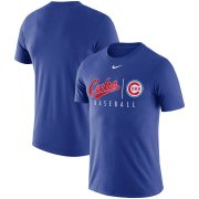 Wholesale Cheap Chicago Cubs Nike MLB Team Logo Practice T-Shirt Royal