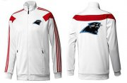Wholesale Cheap NFL Carolina Panthers Team Logo Jacket White