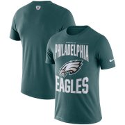 Wholesale Cheap Philadelphia Eagles Nike Team Logo Sideline Property Of Performance T-Shirt Midnight Green