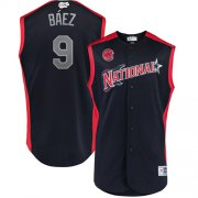 Wholesale Cheap Cubs #9 Javier Baez Navy 2019 All-Star National League Stitched MLB Jersey