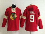 Wholesale Cheap Chicago Blackhawks #9 Bobby Hull Red Pullover NHL Hoodie