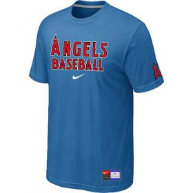 Wholesale Cheap Los Angeles Angels Nike Short Sleeve Practice MLB T-Shirt Indigo Blue