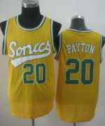 Wholesale Cheap Seattle Supersonics #20 Gary Payton 2003-04 Yellow Swingman Jersey