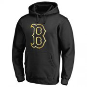 Wholesale Cheap Boston Red Sox Gold Collection Pullover Hoodie Black