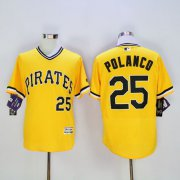 Wholesale Cheap Pirates #25 Gregory Polanco Gold Flexbase Authentic Collection Stitched MLB Jersey