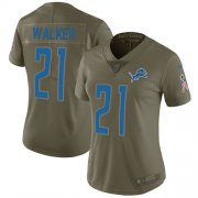 Wholesale Cheap Nike Lions #21 Tracy Walker Olive Women's Stitched NFL Limited 2017 Salute to Service Jersey