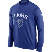 Wholesale Cheap Men's Los Angeles Rams Nike Royal Circuit Alternate Sideline Performance Sweatshirt