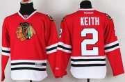 Wholesale Cheap Blackhawks #2 Duncan Keith Red Stitched Youth NHL Jersey