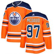 Wholesale Cheap Adidas Oilers #97 Connor McDavid Orange Home Authentic Stitched NHL Jersey