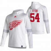 Wholesale Cheap Detroit Red Wings #54 Bobby Ryan Adidas Reverse Retro Pullover Hoodie White