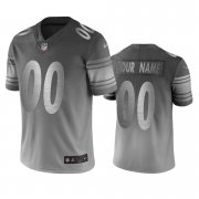Wholesale Cheap Pittsburgh Steelers Custom Silver Gray Vapor Limited City Edition NFL Jersey