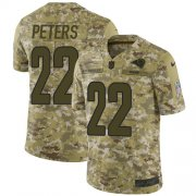 Wholesale Cheap Nike Rams #22 Marcus Peters Camo Men's Stitched NFL Limited 2018 Salute To Service Jersey