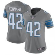 Wholesale Cheap Nike Lions #42 Devon Kennard Gray Women's Stitched NFL Limited Rush Jersey