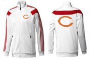 Wholesale NFL Chicago Bears Team Logo Jacket White_3