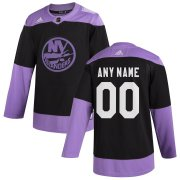 Wholesale Cheap New York Islanders Adidas Hockey Fights Cancer Custom Practice Jersey Black