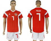 Wholesale Cheap Russia #7 Poloz Home Soccer Country Jersey