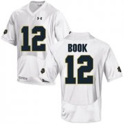 Wholesale Cheap Notre Dame Fighting Irish 12 Ian Book White College Football Jersey