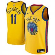 Wholesale Cheap Nike Golden State Warriors #11 Klay Thompson Gold NBA Swingman City Edition Jersey