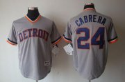 Wholesale Tigers #24 Miguel Cabrera Grey 1970's Turn Back The Clock Stitched Baseball Jersey