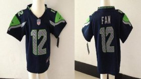 Wholesale Cheap Toddler Nike Seahawks #12 Fan Steel Blue Team Color Stitched NFL Elite Jersey