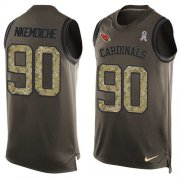 Wholesale Cheap Nike Cardinals #90 Robert Nkemdiche Green Men's Stitched NFL Limited Salute To Service Tank Top Jersey