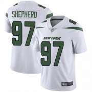 Wholesale Cheap Nike Jets #97 Nathan Shepherd White Men's Stitched NFL Vapor Untouchable Limited Jersey