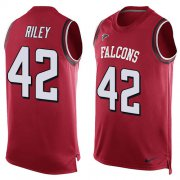 Wholesale Cheap Nike Falcons #42 Duke Riley Red Team Color Men's Stitched NFL Limited Tank Top Jersey