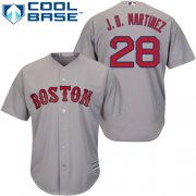 Wholesale Cheap Red Sox #28 J. D. Martinez Grey New Cool Base Stitched MLB Jersey