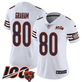 Wholesale Cheap Nike Bears #80 Jimmy Graham White Women\'s Stitched NFL 100th Season Vapor Untouchable Limited Jersey