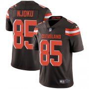Wholesale Cheap Nike Browns #85 David Njoku Brown Team Color Men's Stitched NFL Vapor Untouchable Limited Jersey