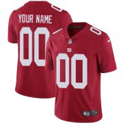 Wholesale Cheap Nike New York Giants Customized Red Alternate Stitched Vapor Untouchable Limited Men's NFL Jersey