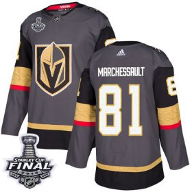 Wholesale Cheap Adidas Golden Knights #81 Jonathan Marchessault Grey Home Authentic 2018 Stanley Cup Final Stitched Youth NHL Jersey