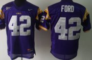 Wholesale Cheap LSU Tigers #42 Michael Ford Purple Jersey