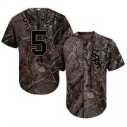Wholesale Cheap White Sox #5 Yolmer Sanchez Camo Realtree Collection Cool Base Stitched MLB Jersey