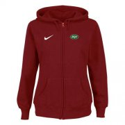 Wholesale Cheap Nike New York Jets Ladies Tailgater Full Zip Hoodie Red