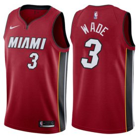Wholesale Cheap Nike Miami Heat #3 Dwyane Wade Red NBA Swingman Statement Edition Jersey