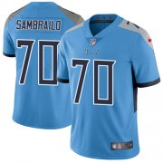 Wholesale Cheap Nike Titans #70 Ty Sambrailo Light Blue Alternate Youth Stitched NFL Vapor Untouchable Limited Jersey
