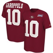 Wholesale Cheap San Francisco 49ers #10 Jimmy Garoppolo Nike NFL 100th Season Player Pride Name & Number Performance T-Shirt Scarlet