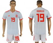 Wholesale Cheap Spain #19 Rodrigo Away Soccer Country Jersey