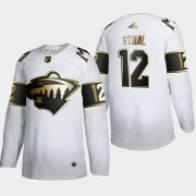 Wholesale Cheap Minnesota Wild #12 Eric Staal Men's Adidas White Golden Edition Limited Stitched NHL Jersey