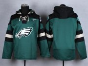 Wholesale Cheap Nike Eagles Blank Midnight Green Player Pullover NFL Hoodie