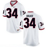 Wholesale Cheap Men's Georgia Bulldogs #34 Herschel Walker White Stitched College Football 2016 Nike NCAA Jersey