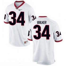 Wholesale Cheap Men\'s Georgia Bulldogs #34 Herschel Walker White Stitched College Football 2016 Nike NCAA Jersey