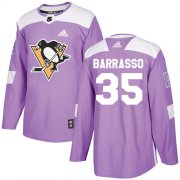 Wholesale Cheap Adidas Penguins #35 Tom Barrasso Purple Authentic Fights Cancer Stitched NHL Jersey
