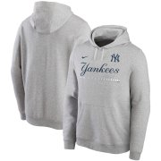 Wholesale Cheap New York Yankees Nike Color Bar Club Pullover Hoodie Gray