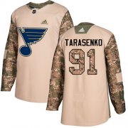 Wholesale Cheap Adidas Blues #91 Vladimir Tarasenko Camo Authentic 2017 Veterans Day Stitched Youth NHL Jersey